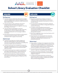AASL School Library Evaluation Checklist
