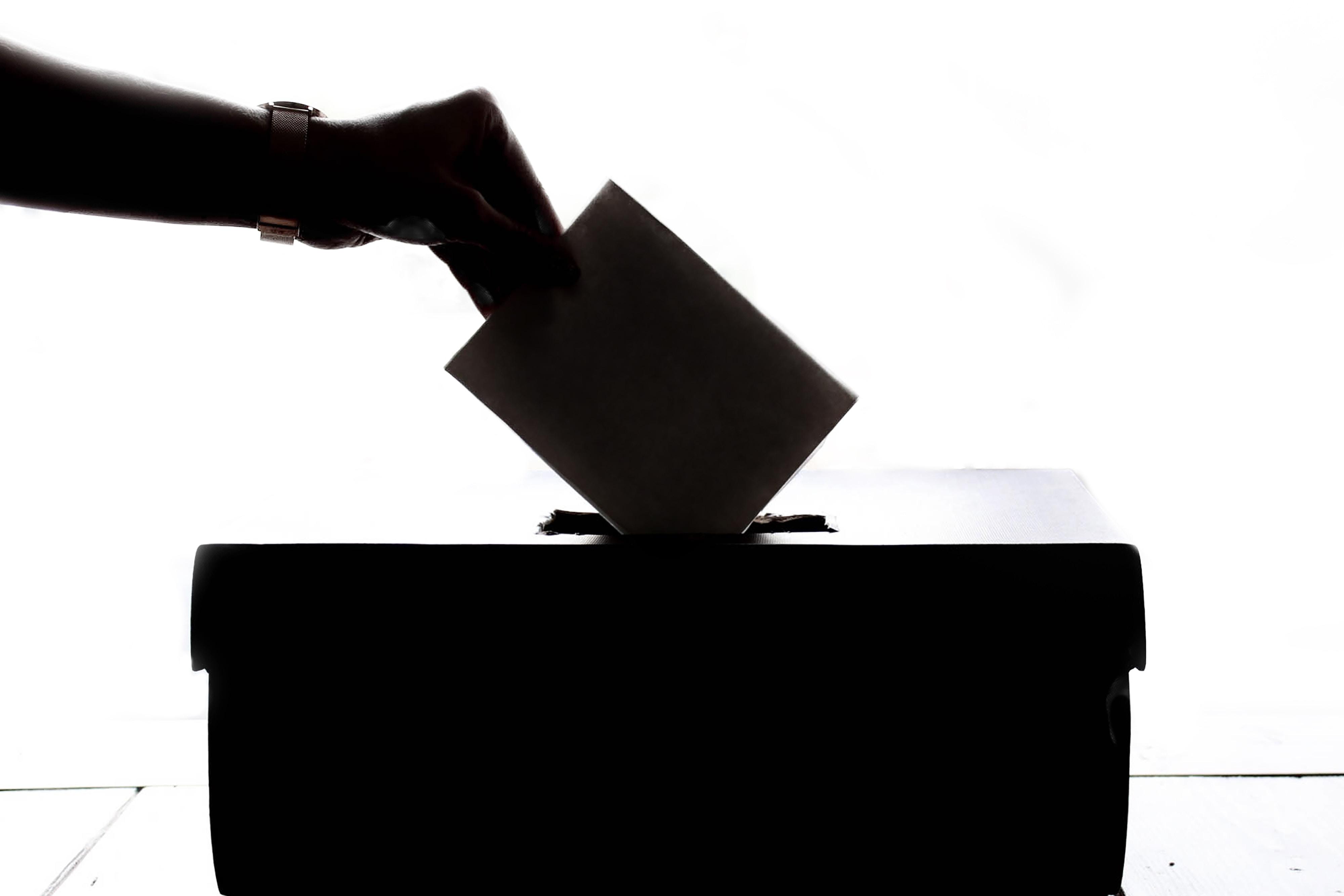 Röstning, val