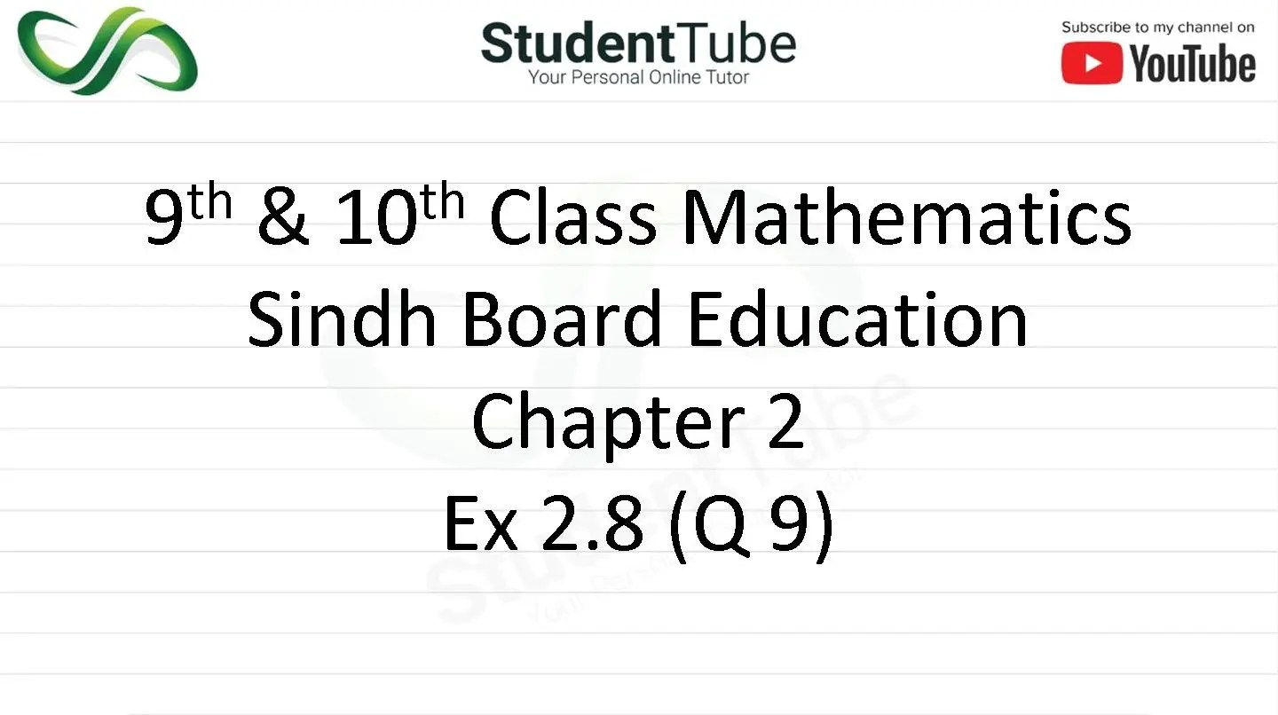 Chapter 2 - Exercise 2.8 Q 9
