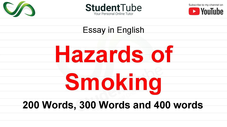 Hazards of Smoking