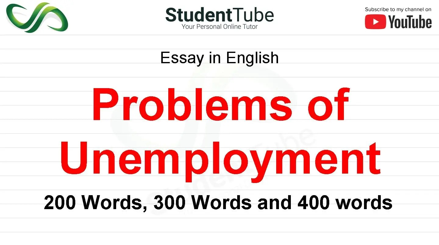 Problems Of Unemployment or Causes of Unemployment