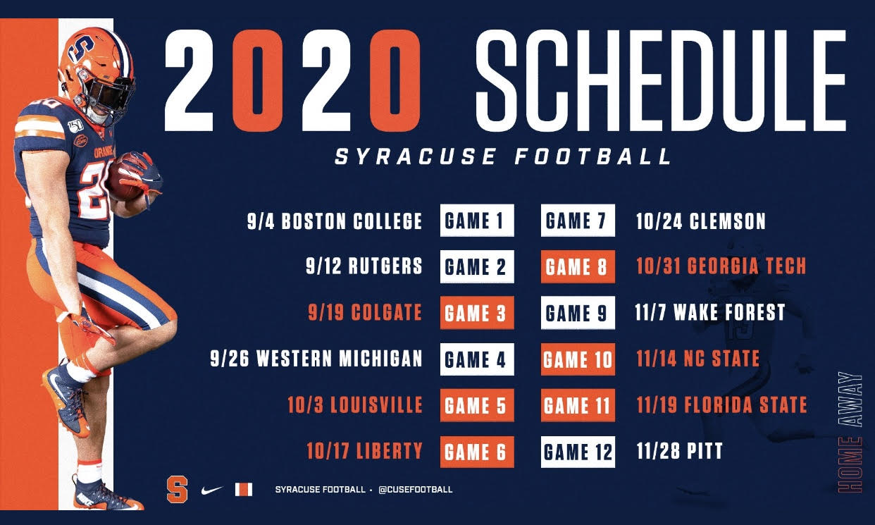 Breaking Down The 2020 Syracuse Football Schedule Student Union Sports