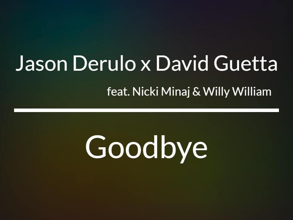 デヴィッド・ゲッタが豪華な歌手とコラボした新曲「Goodbye」をリリース!