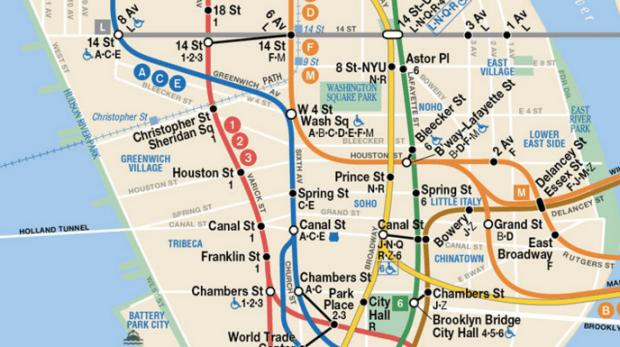 NYC Subway Map (close-up)