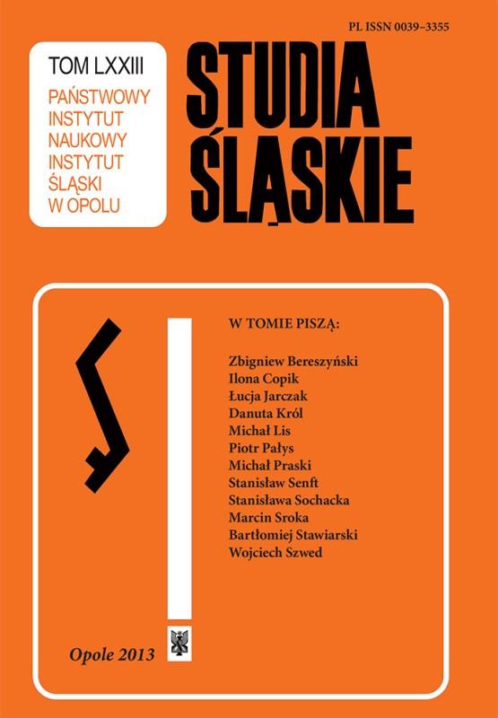 Studia Śląskie tom 73