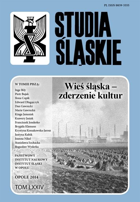 Studia Śląskie tom 74