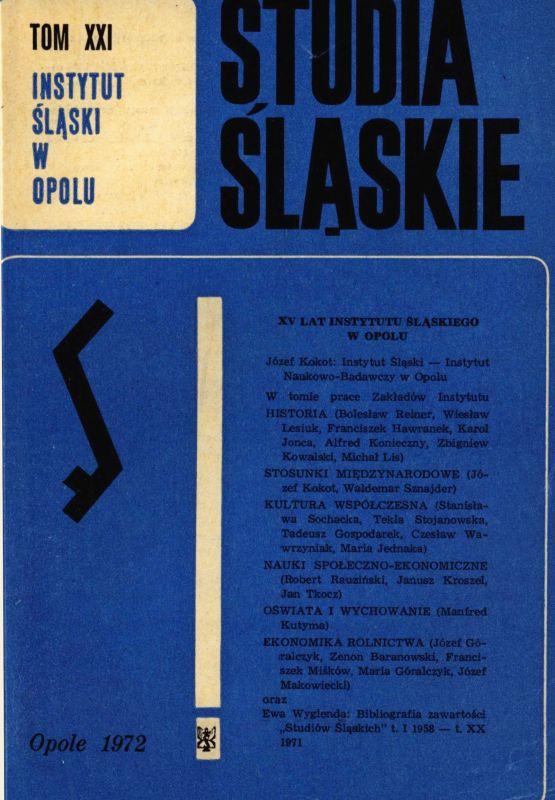 Studia Śląskie tom 21