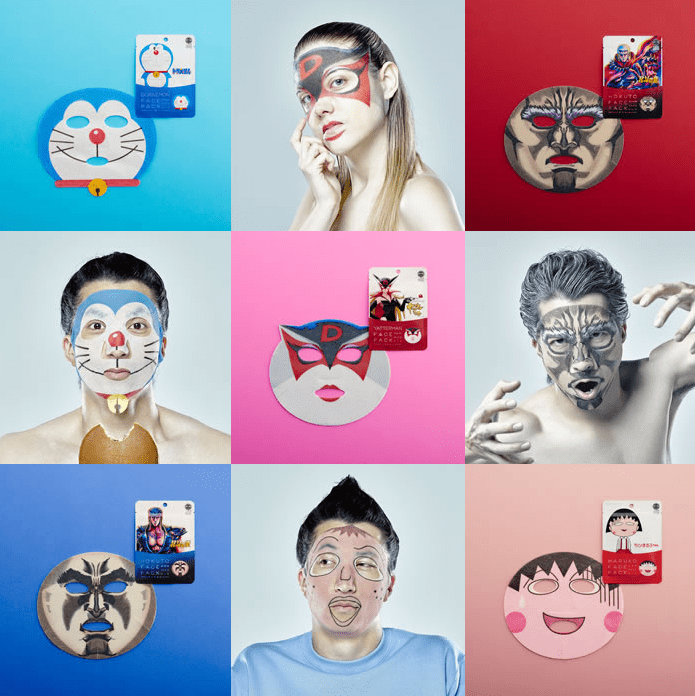 maschere di bellezza facciali giapponesi sadako vs kayako (5)