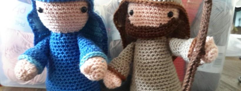 Ondanks het herfstweer was ik met het haken van Maria en Jozef al vol in de kerstsfeer