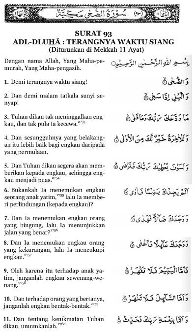 Tafsir Surat Ad Dhuha : tafsir, surat, dhuha, Surat, Dhuha, Terjemahan
