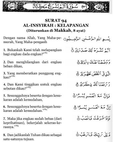 Al Insyirah Ayat 5 : insyirah, Surat, Insyirah, Lasopawords