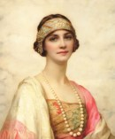 William Clark Wontner (1857-1930) An Elegant Beauty, 1920 63.5 x 53.3 cm, Private collection