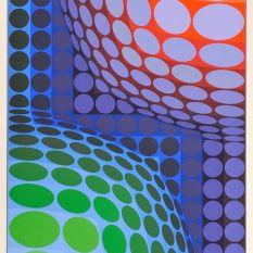 Victor Vasarely, Bi Vega, Estampe originale, 114x79 cm