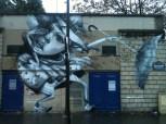 Ethos, Titre inconnu Street art, 2010 Mur d'enceinte du stade Carpentier, boulevard Masséna Paris 13e (75)