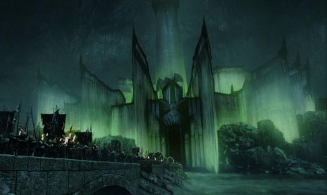 Vue de la ville de Minas Morgul dans Le Retour du Roi (film de 2003).