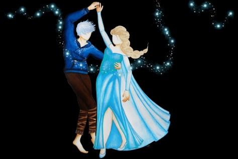 Jelsa dancing (Fanart de La Reine des Neiges et Les Cinq Légendes)