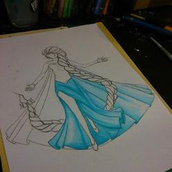 Dessins : Elsa et Jack Frost