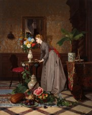 David De Noter et Jules Adolphe Goupil, Huile sur panneau, 65 x 81 cm, 1818-1892, Collection privée.