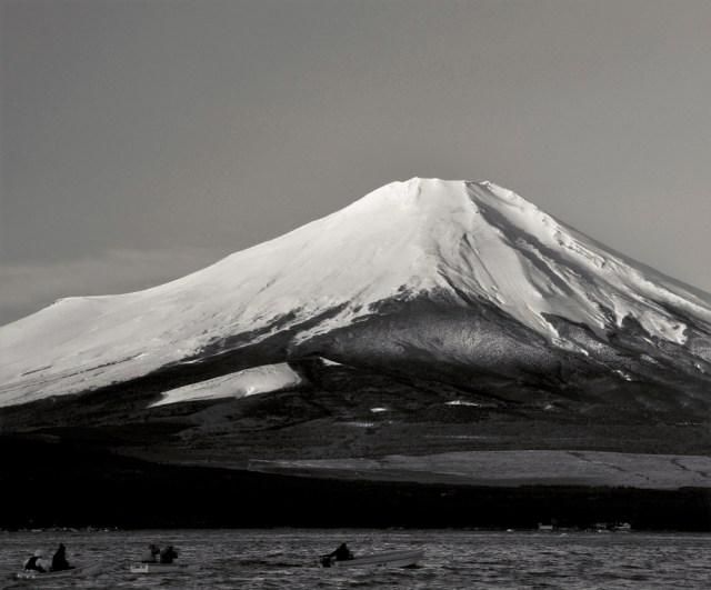 厳寒の富士