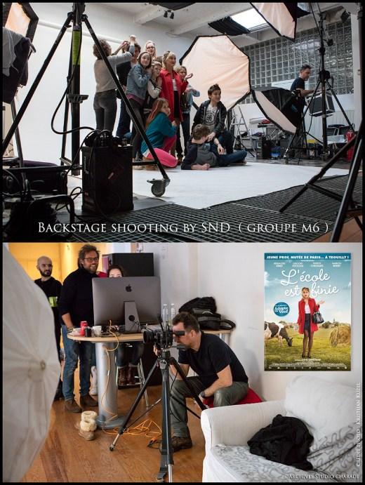 Backstage L'école est finie! SND shooting