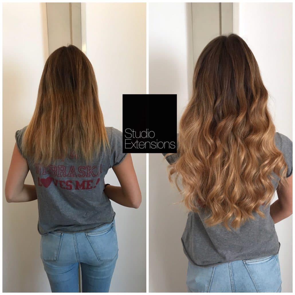 pose d extensions cheveux