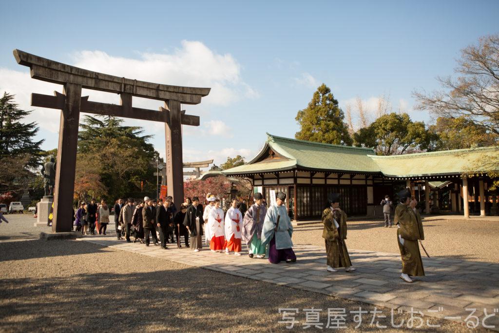 豊國神社,大阪城,結婚式,挙式,ウェディングドレス,カメラマン,出張撮影,金本義隆,内絵里