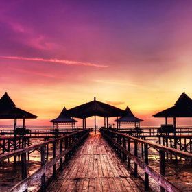 Sunrise at Kenjie Harbour by David Hendrawan
