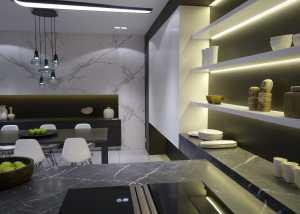 3D tekening keuken
