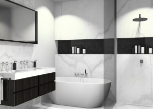 3D tekening badkamer