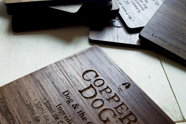 fabrication artisanale et écologique de sous-bock eco-responsable, objet éthique, trophée sur mesure, Idée cadeau made in Paris