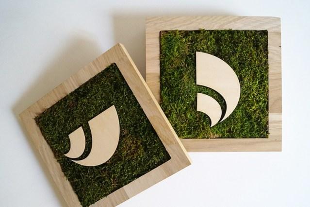 série de tableaux végétaux, créations végétales sur mesure, logo en bois découpé à la laser, Studio L'ingrédient