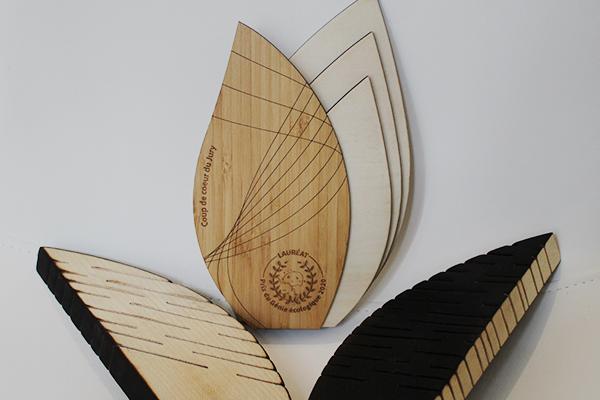 article, trophée en bois, team building, récompense, studio l'ingrédient