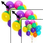 ballonen die worden geschaald