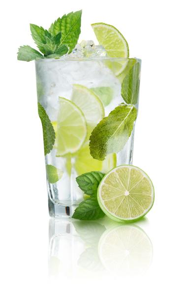 Cocktail met spiegelreflectie