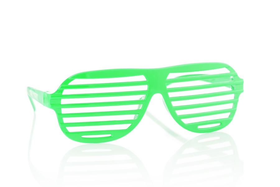 groene zonnebril met een spiegelreflectie