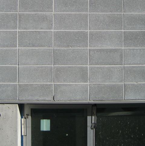 Detail  concrete block  home building in Vancouver