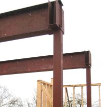 structure  steel beam  home building in Vancouver