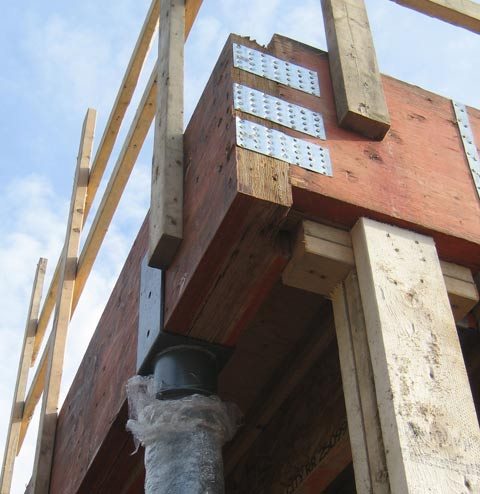 structure  steel to TJI connection  home building in
