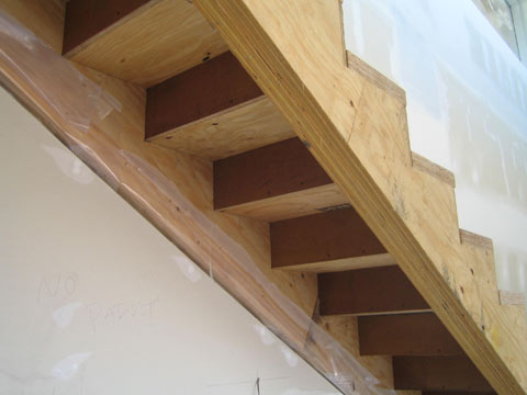 Detail  interior stair  home building in Vancouver