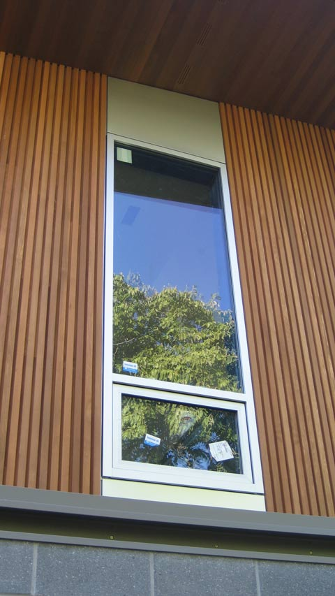 DETAIL  wood siding  home building in Vancouver