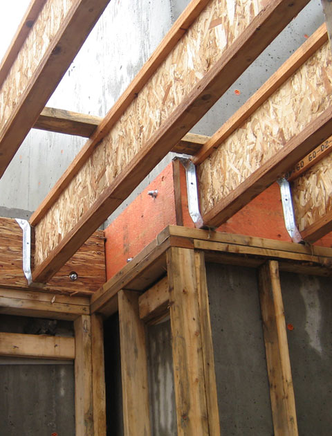 structure  wood beam connection  home building in Vancouver