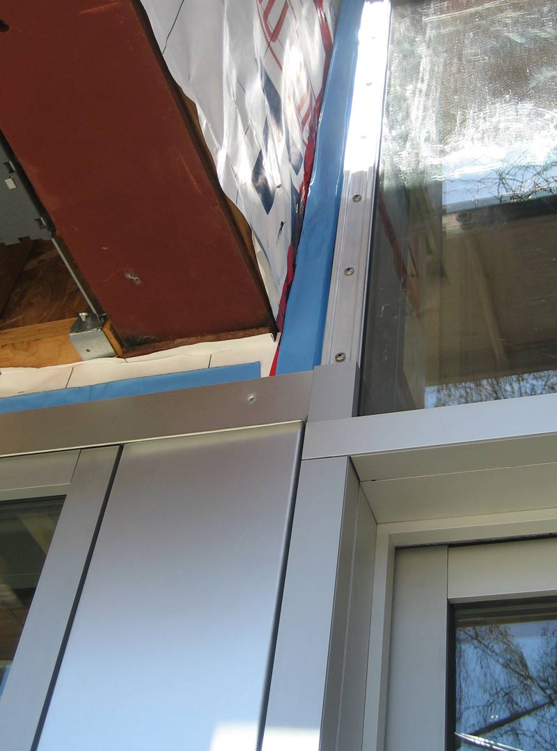 Detail  W 6th curtain wall  home building in Vancouver