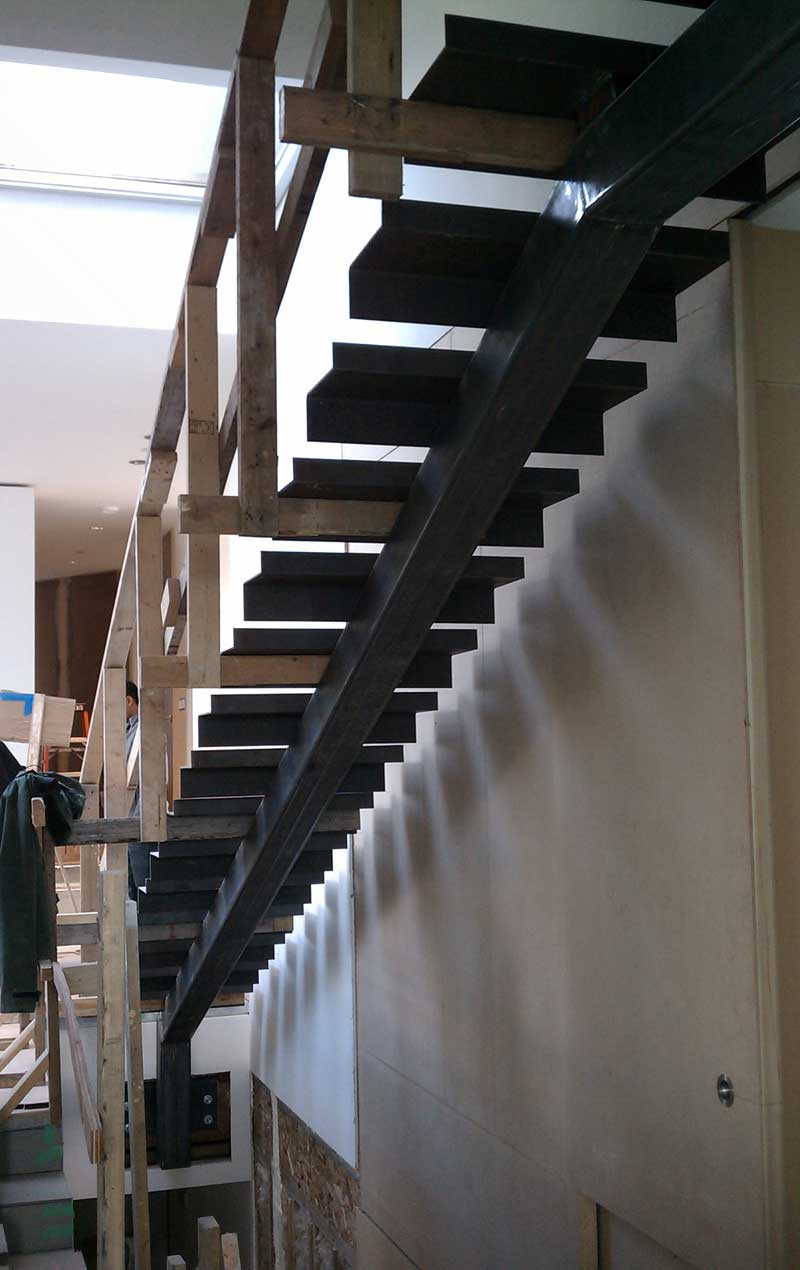 DETAIL  interior stair_  home building in Vancouver