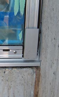 Detail  Esquimalt curtain wall glazing  home building in ...