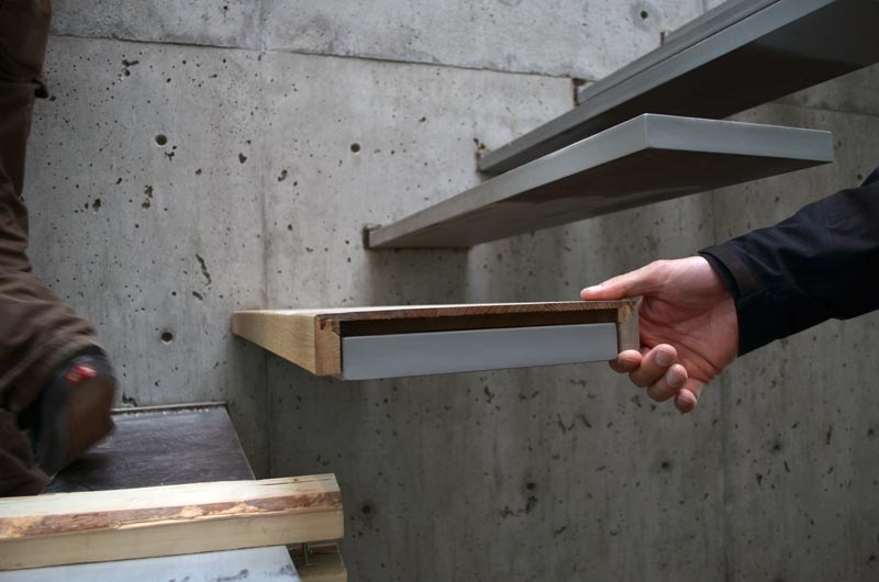 Detail – Cantilevered Stair « Home Building In Vancouver | Steel And Concrete Stairs | Welding | Smooth | Cantilevered | Industrial | Cement