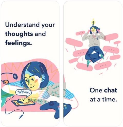 Скриншоты мобильного приложения Sayana: Emotional Self-Care в магазине App Store