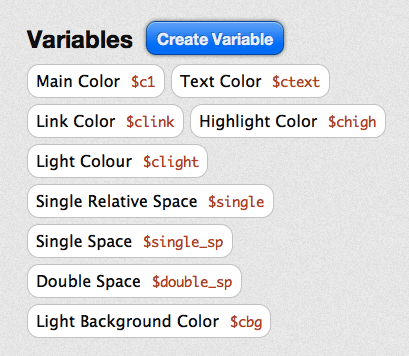 Variable in CSS editor