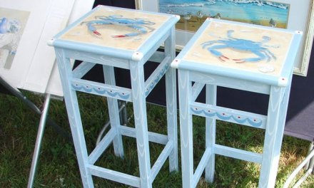 Blue Crab Bar Stools – Latest Design For Hand Painted Stools and Tables