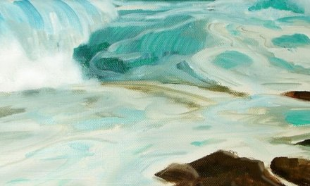 Seascape Painting – Second Step Is a Color Sketch