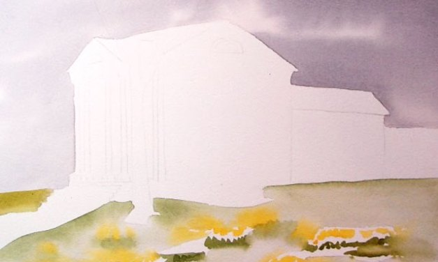 First Steps In Painting a Watercolor of the Florence Griswold Museum